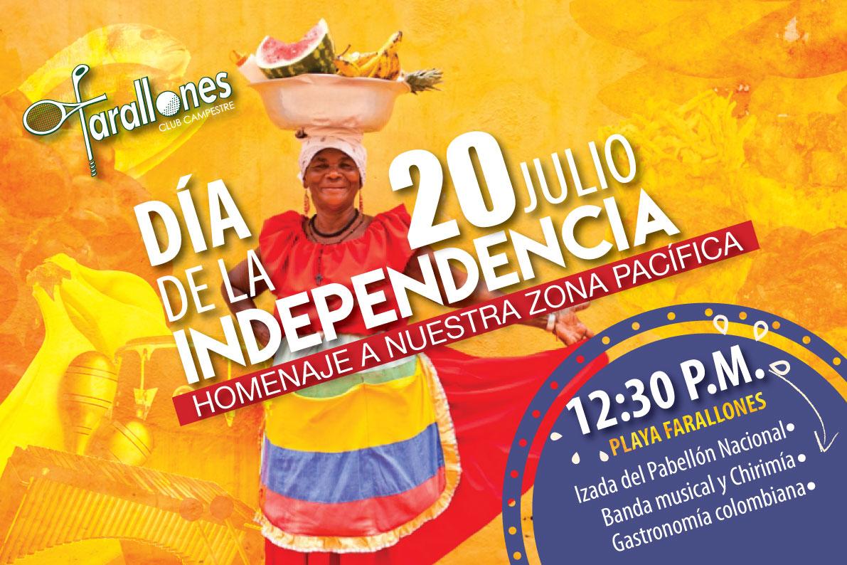 20 de julio d a de la independencia club farallones for Jardines 20 de julio bogota
